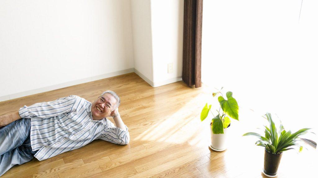 高齢者と老後に住み替えた先の家